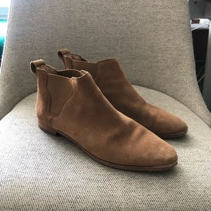 EUC Madewell Bryce Bootie In Camel Suede